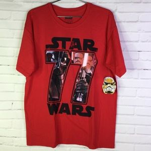 Star Wars Dark Side Empire Red Graphic Tee Mens L